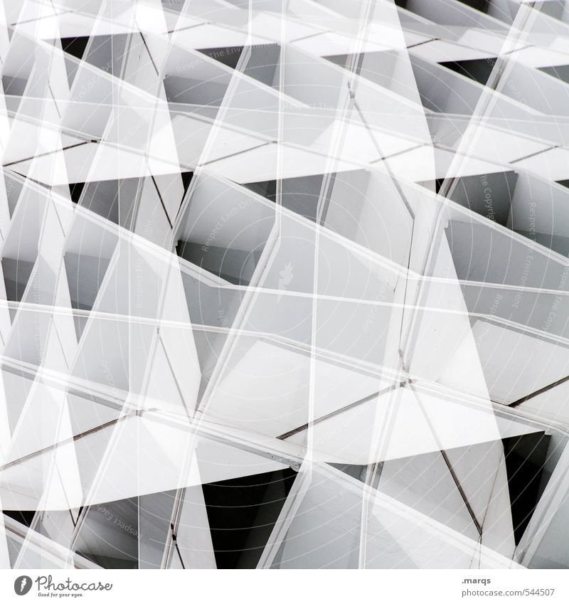 White Black Architecture Exceptional Line Bright Facade Modern Perspective Esthetic Uniqueness New Plastic Hip & trendy Irritation Sharp-edged