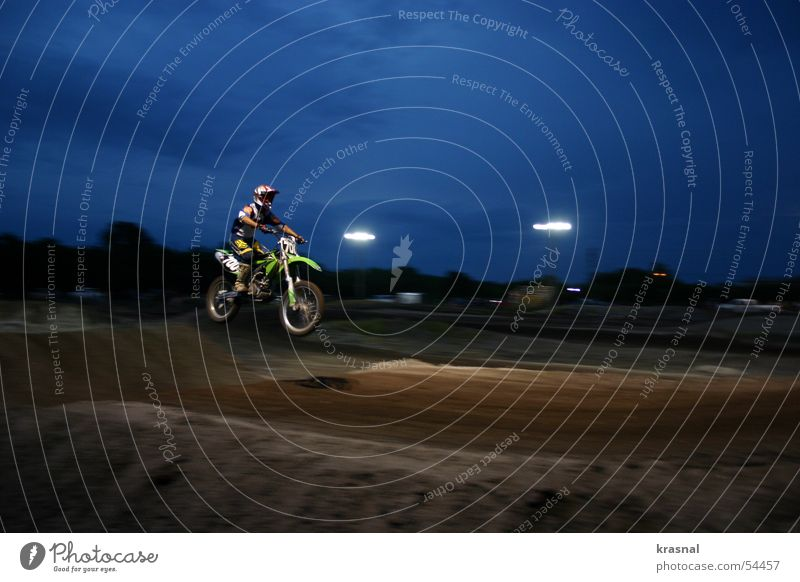Joy Dark Lighting Sports Freedom Jump Leisure and hobbies Dangerous Tall Risk Brave Extreme Mountain bike Motorcycle Motocross bike Air