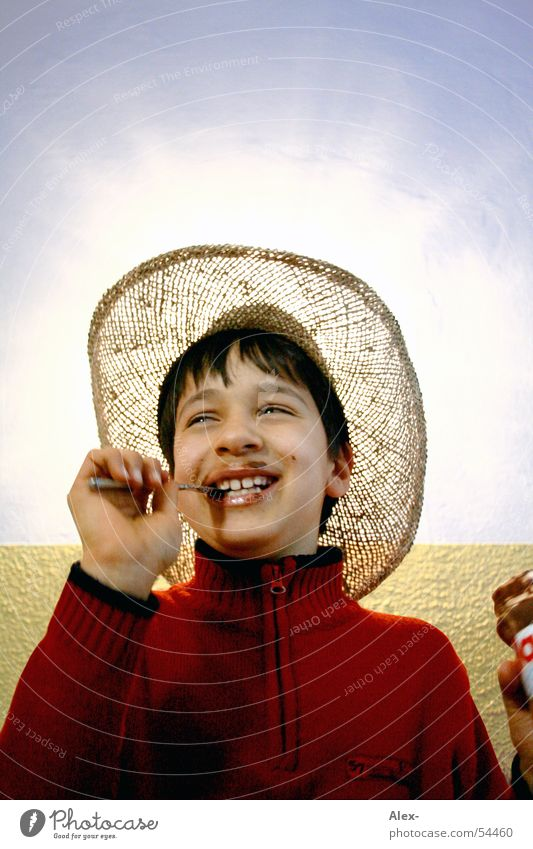 Joy Nutrition Boy (child) Laughter Lighting Small Happiness Sweet Cowboy