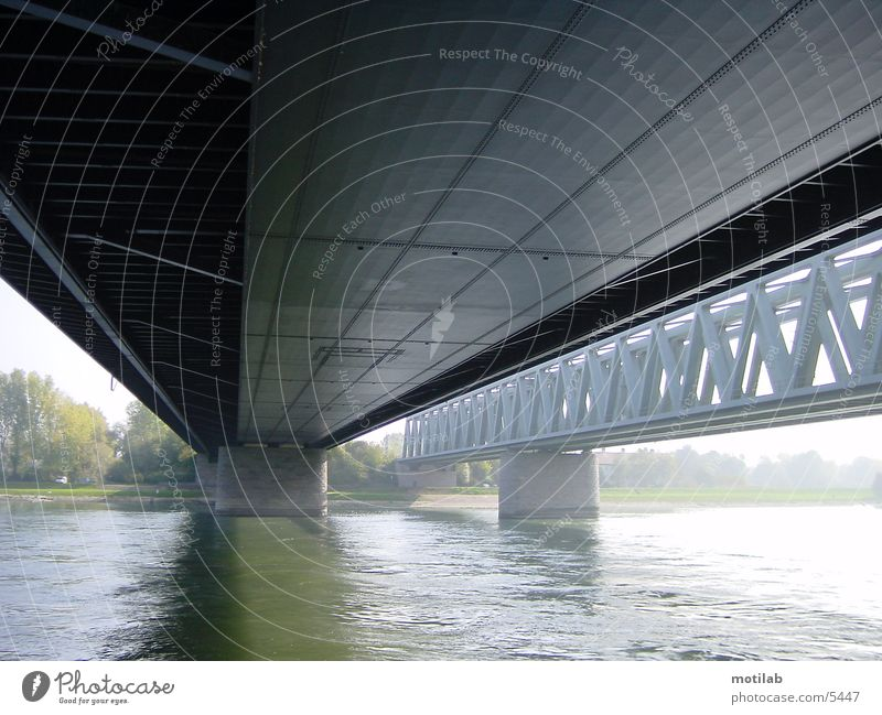 under the bridge Photographic technology Bridge River Water