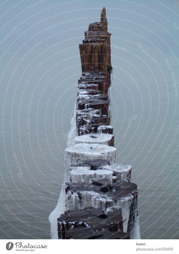 White Ocean Winter Loneliness Cold Wood Gray Ice Horizon Empty Longing Frozen Barrier Pole Raw