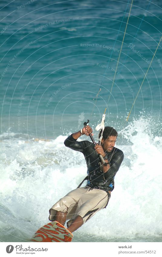 Water Ocean Summer Black Sports Flying Wet Surfing Kiting Sal Cabo Verde