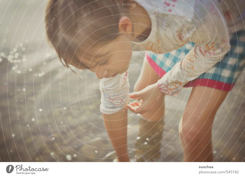 Human being Child Nature Water Summer Hand Girl Face Environment Eyes Feminine Autumn Hair and hairstyles Healthy Natural Head