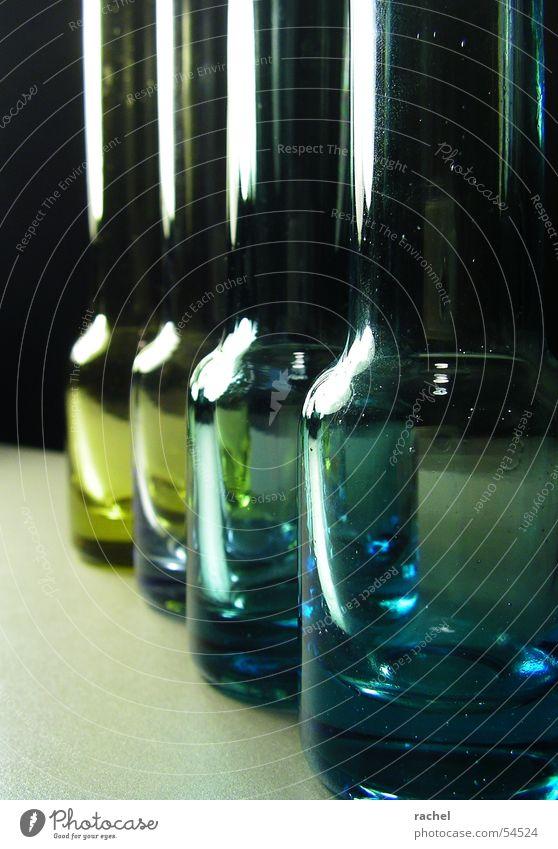Green Blue Black Yellow Dark Glass Multiple Decoration Row Bottle Silver Transparent Vase