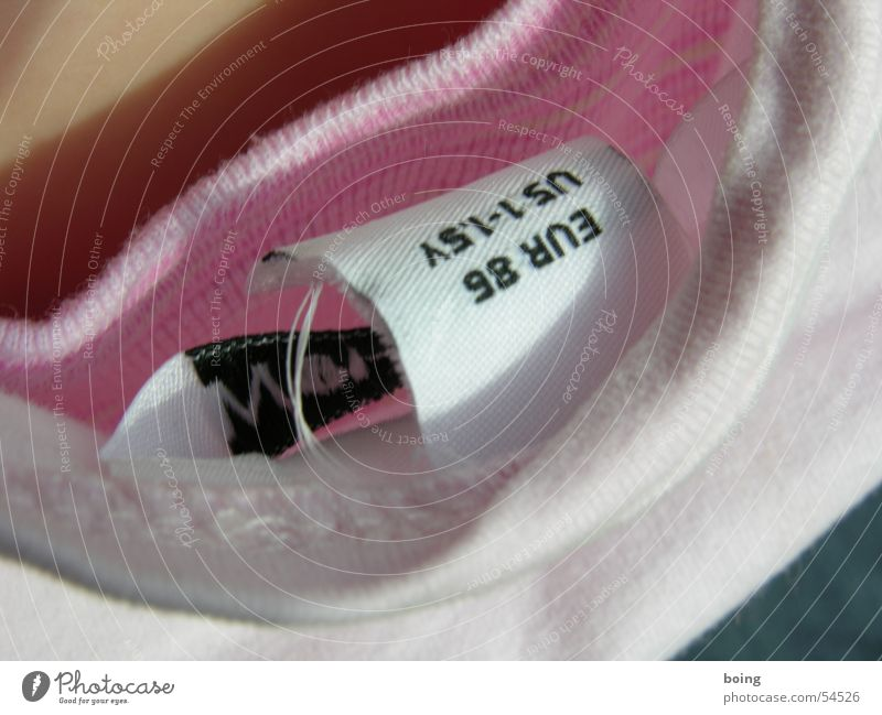 Pink Signs and labeling Design Europe Signage Clothing T-shirt USA Argument Americas Neck Sweater Label Textiles Behind