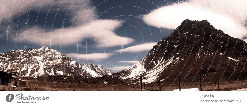 Paso Los Libertadores Sky Landscape Clouds Winter Mountain Environment Snow Earth Horizon Air Trip Climate Adventure Peak Snowcapped peak