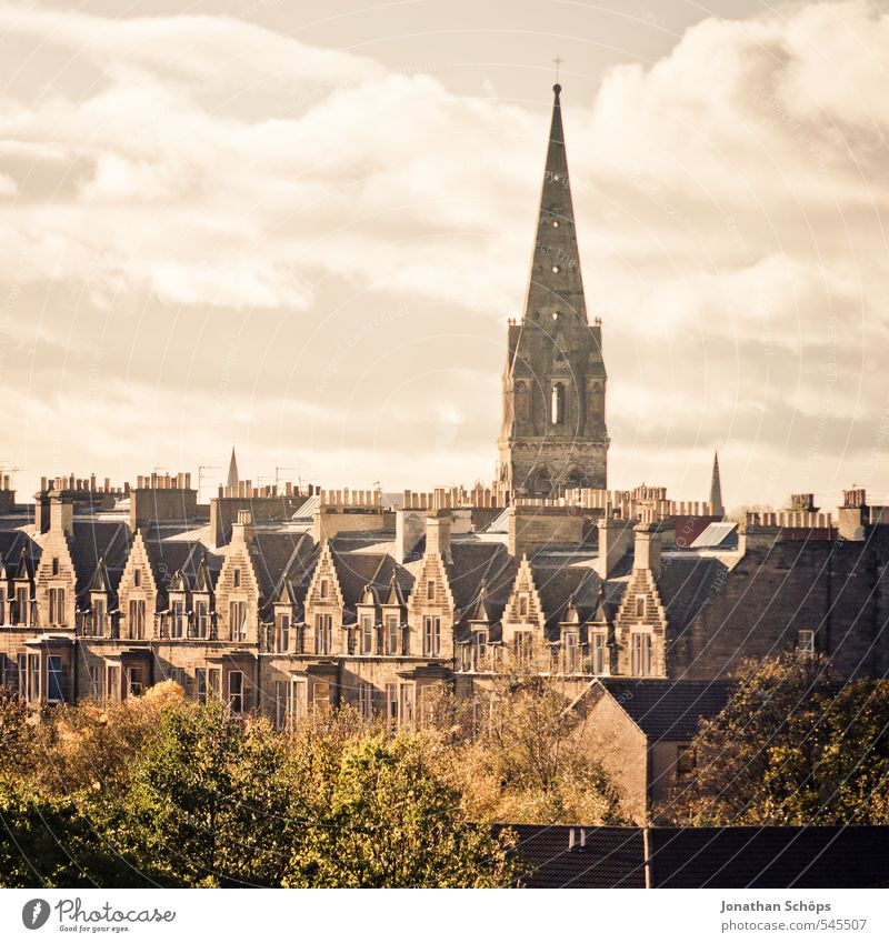 Edinburgh VIII Scotland Great Britain Town Capital city Old town Skyline Populated House (Residential Structure) Church Manmade structures Building Architecture