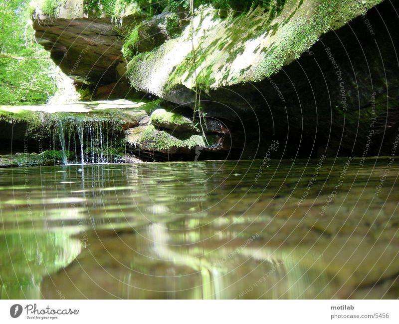 idyllic Dream Reflection Peace Water Rock Idyll