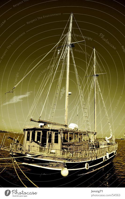 Watercraft Harbour Sailing Navigation Electricity pylon Sailboat Seaman Sailing ship