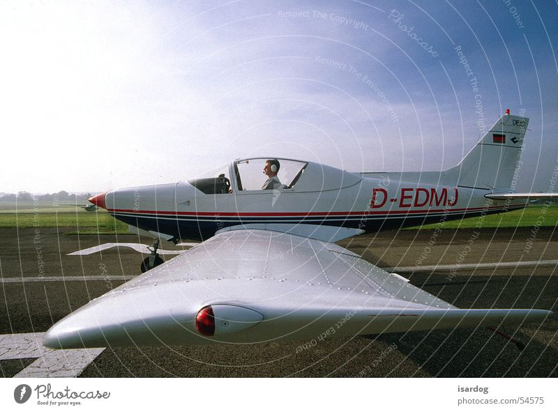 Ready for take-off? Airplane Two-seater Airfield Flying