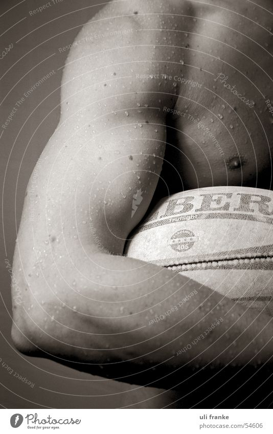 Rugby05 Rugby player Rugby ball Man Masculine Naked Driver's cab Nude photography Musculature Ball Sports Sportsperson
