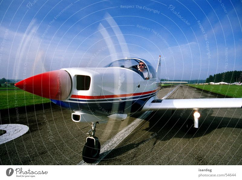 Sky Airplane Beginning Airfield Two-seater