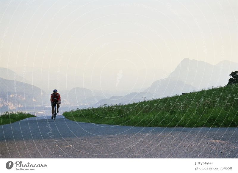 lonelyness Cycling Sunset Meadow Loneliness Landscape Mountain Evening Street Lanes & trails Freedom Far-off places clear air