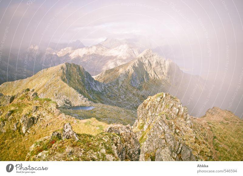 Ridge walk IV Harmonious Calm Meditation Landscape Mountain Peak Loneliness Eternity Mysterious Speed Happy Horizon Idea Identity Idyll Inspiration Complex