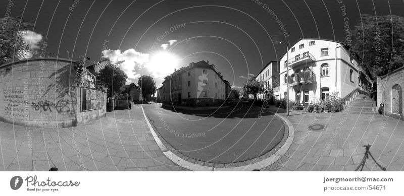 Sky Sun City Summer House (Residential Structure) Clouds Street Landscape Large Panorama (Format) Braunschweig