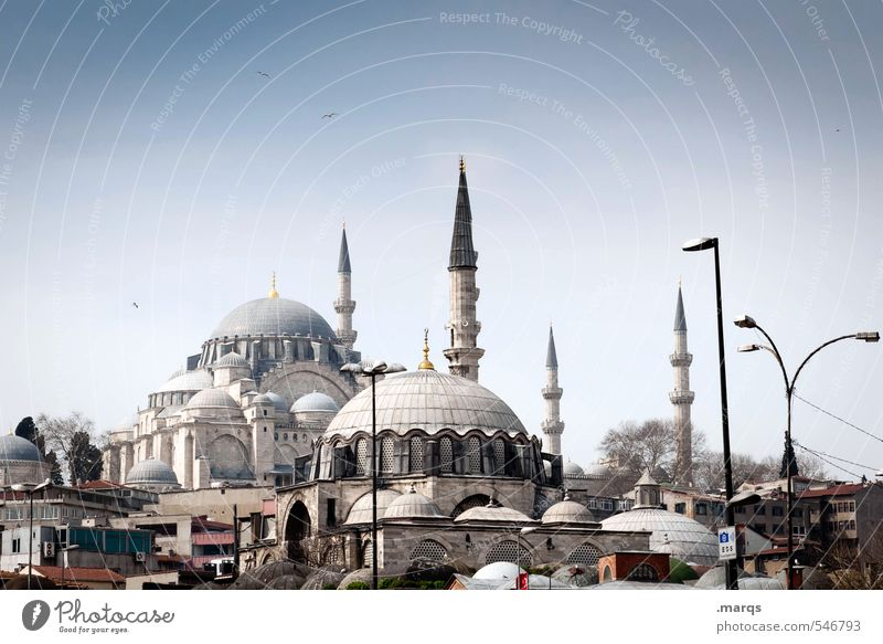Istanbul City Center Vacation & Travel Tourism Trip Sightseeing City trip Culture Cloudless sky Summer Beautiful weather Turkey Downtown Manmade structures