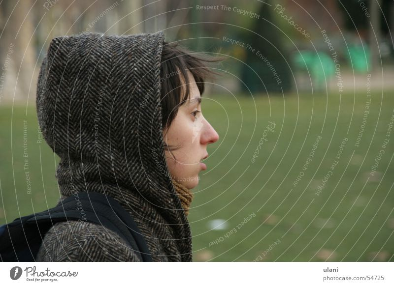 Woman Winter Autumn Hooded (clothing)