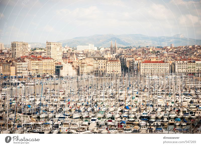 Harbor, Vieux port of Marseille Vacation & Travel Blue Old City Ocean Landscape House (Residential Structure) Building Architecture Watercraft Brown Tourism