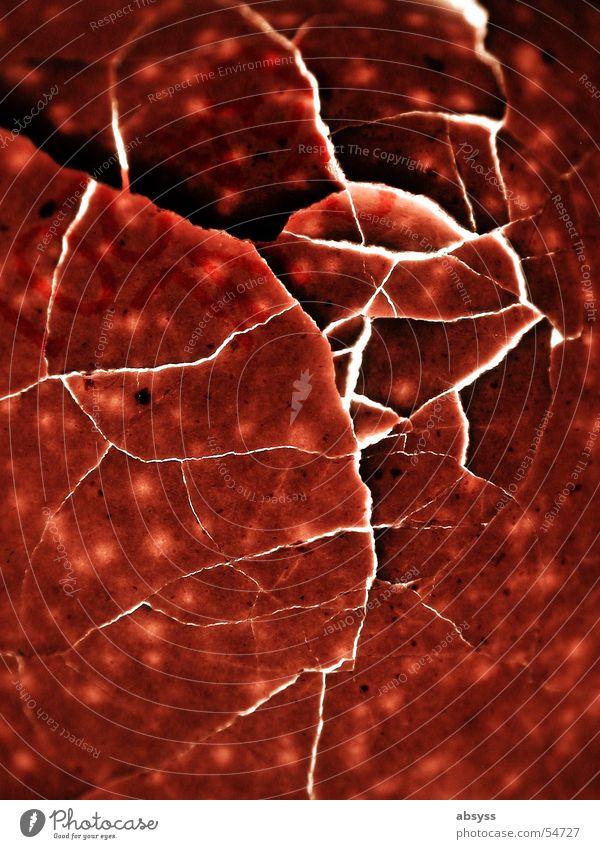 Red Broken Point Egg Crack & Rip & Tear Bowl Splinter Spotted Slivered Split Eggshell Fracture point Rated break point