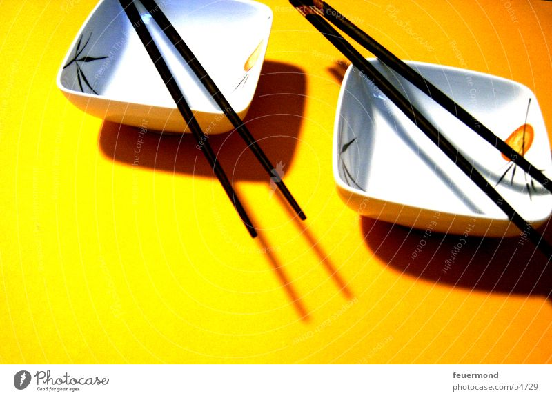 Yellow Nutrition Asia China Japan Bowl Sushi Chopstick Far East