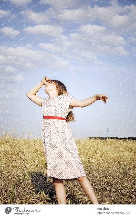 Human being Child Sky Nature Youth (Young adults) Summer Hand Young woman Landscape Girl Clouds Environment Life Feminine Hair and hairstyles Head