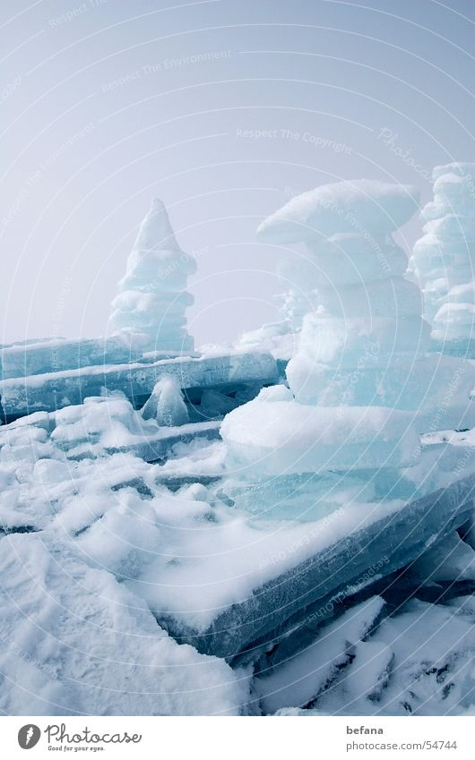 ice towers Lake Chiemsee Ice