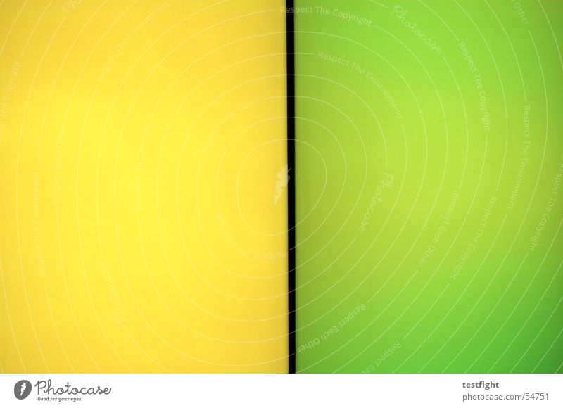 Green Yellow Colour Wall (building) Wall (barrier) Wall of color Wall of light
