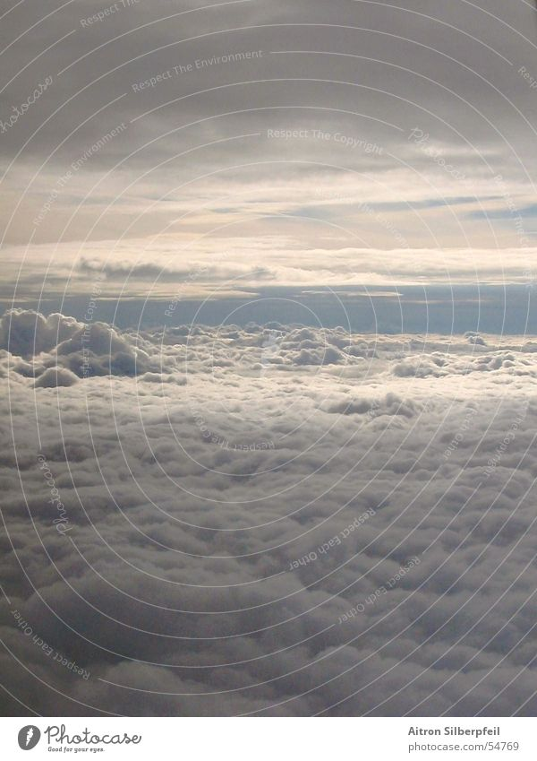 The Sky's wide Clouds Airplane Above the clouds Massive Aviation other world Weather