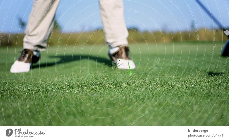 Green Joy Sports Playing Grass Power Grass surface Tea Golf Golf course Knoll 1 Wood Tee off Arrest Golf ball Trajectory