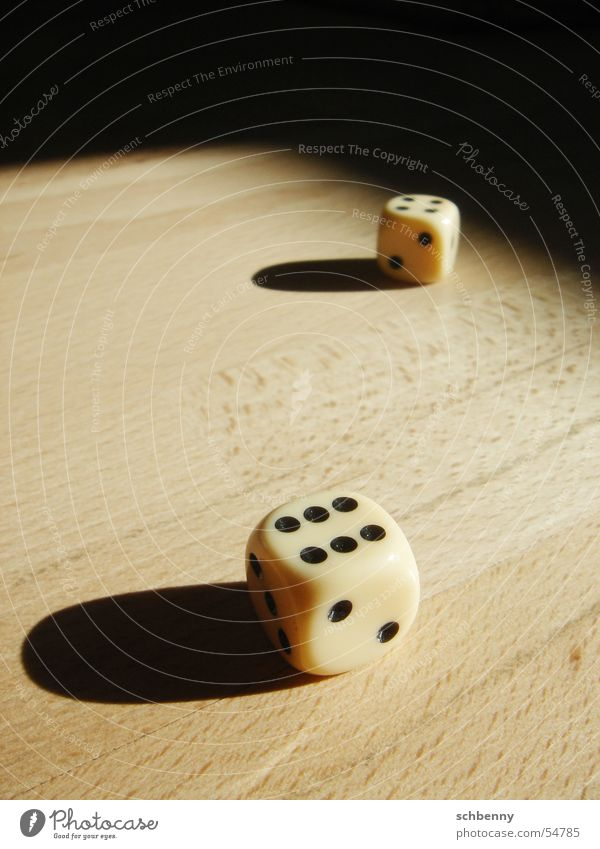 cube shadow Light Playing Dark Parquet floor Wood Calm Interior shot Shadow Bright Sun Structures and shapes playfulness on parquet floor Dice