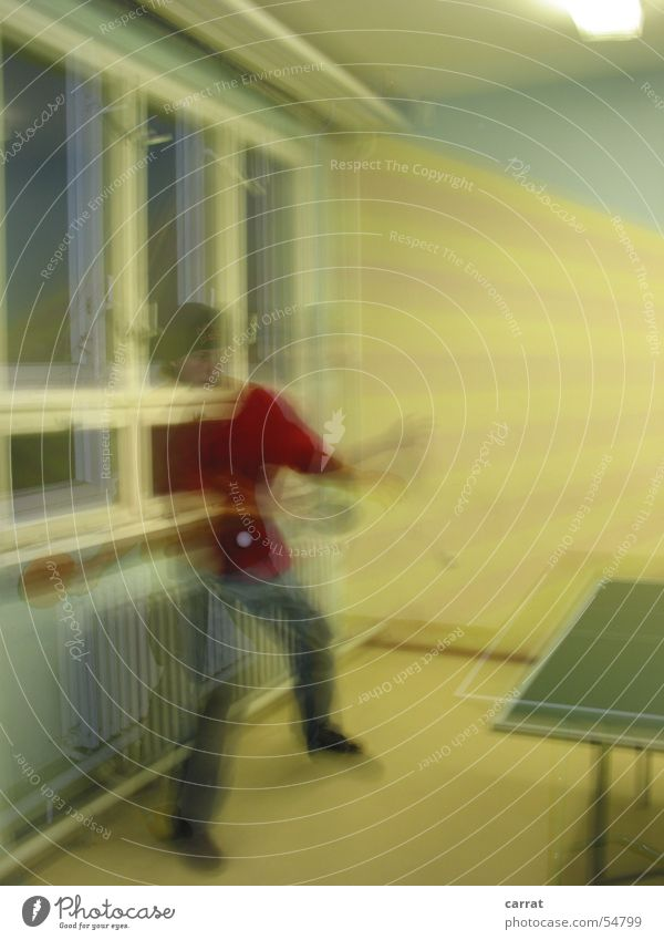 Table Tennis Ghost Table tennis Long exposure Window Blur Playing Speed Yellow Light Dark Heater Man Ghosts & Spectres  ghost Sports Ball Power Dexterity early