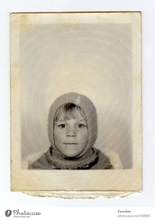 me small Passport photograph Skier Baseball cap ID card Headwear Paper Small Leisure and hobbies Black Child Vacation & Travel Cap Portrait photograph Toddler