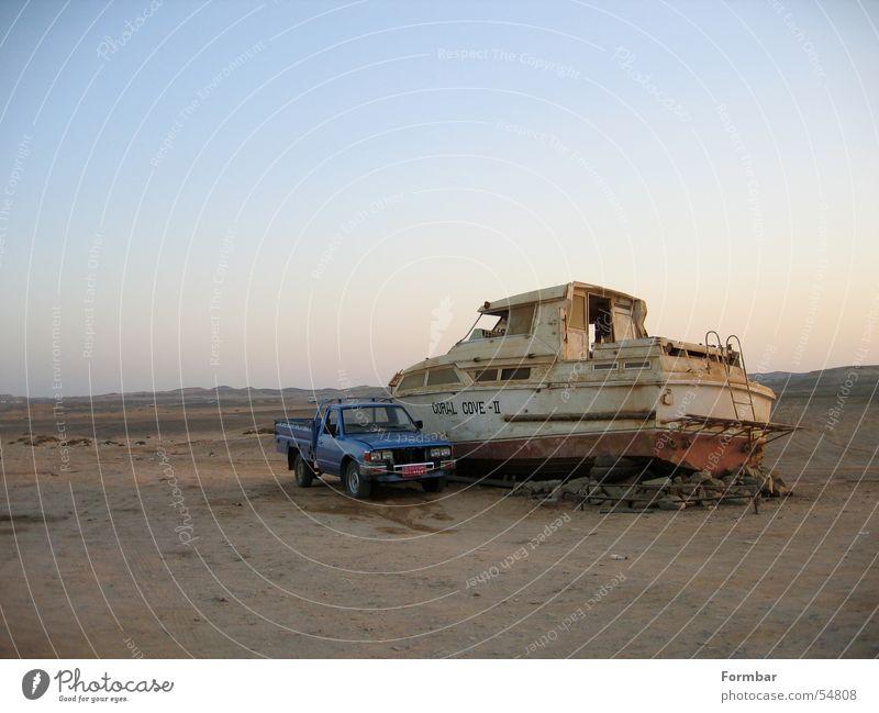 Old Sky Ocean House (Residential Structure) Car Sand Watercraft Level Broken Desert Harbour
