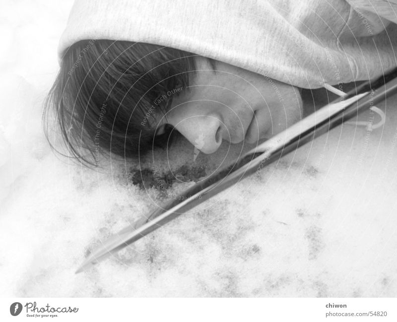 Cold Snow Death Ice Empty Blood Criminality Corpse Murder Sacrifice Assassin Sword Perpetrator Blade