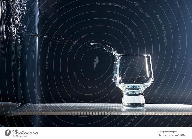 Water Glass Drops of water Wet Beverage Splash Gravity