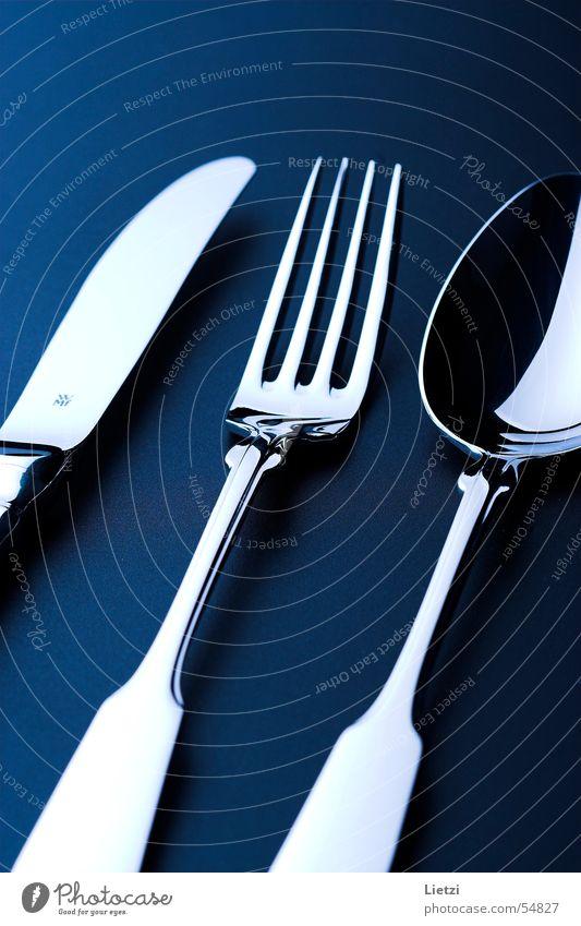 spade cutlery Spade Cutlery Fork Spoon Dark Black Knives Blue Chrome