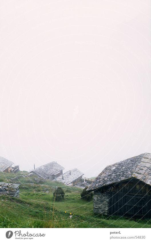 Mountain Sadness Moody Hiking Fog Weather Hut