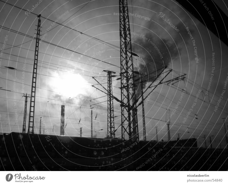 Nature White Sun Black Clouds Dark Dirty Fog Industrial Photography Factory Smoke Chimney Smog Repression