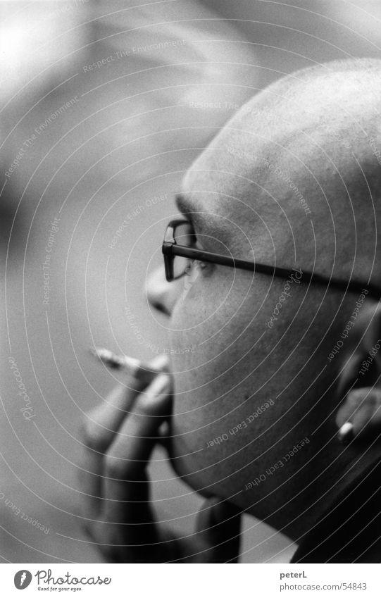 Face Head Break Eyeglasses Smoking Bald or shaved head Earring