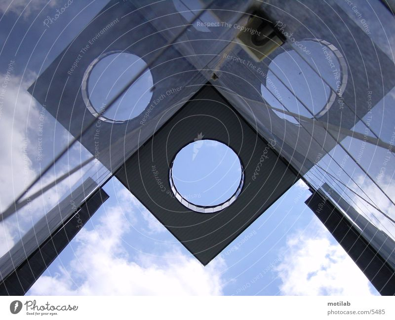 Air hole House (Residential Structure) Building Reflection Architecture Perspective Sky Hollow