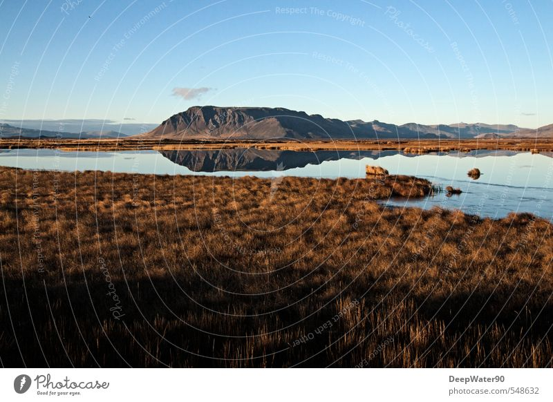 Sky Nature Blue White Water Plant Landscape Black Far-off places Environment Mountain Meadow Autumn Grass Lake Natural