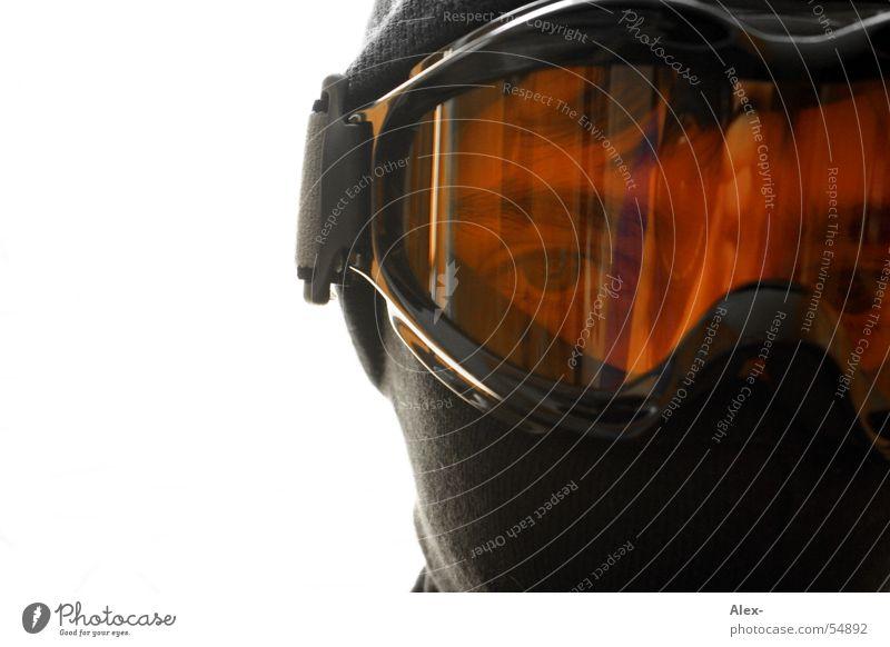 Man Winter Face Orange Glass Wind Eyeglasses Protection Plastic Cap Mask Criminal Knitted face mask
