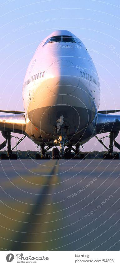 747 Airplane Passenger plane Airfield Ski run Runway