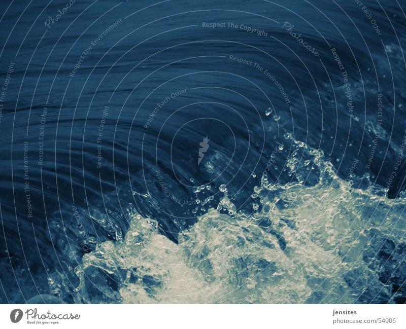 Nature Water White Ocean Blue Movement Waves Dynamics Inject Foam High tide Short exposure