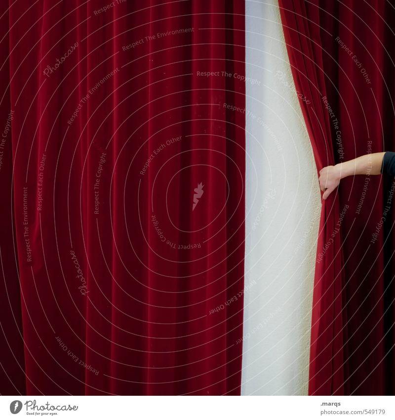 Raise the curtain! Entertainment Event Arm Hand Culture Shows Opera Sign New Red Curiosity Surprise Beginning Esthetic Colour Future Velvet Drape Undo