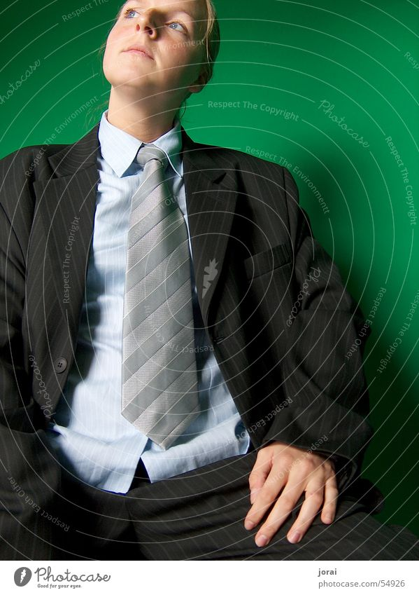 Man Green Business Elegant Shirt Suit Tie Fellow Gentleman Meticulous Pinstripe