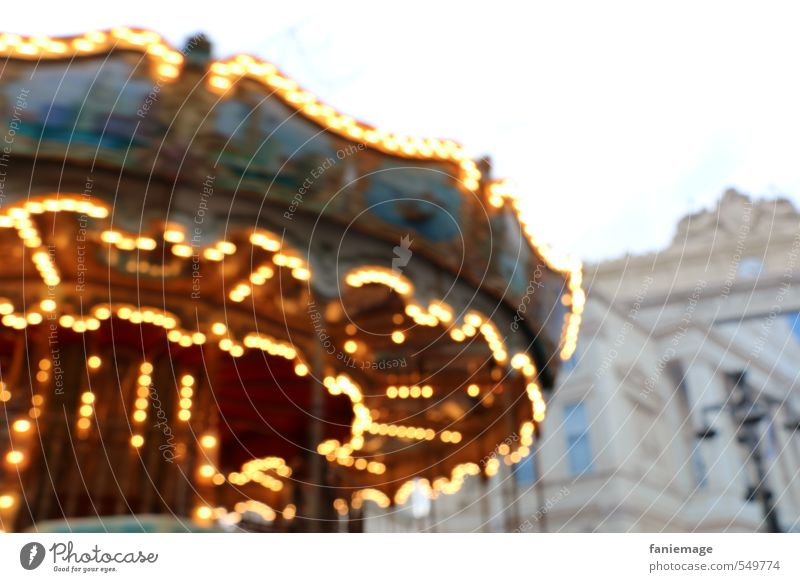 manège pour enfants Joy Christmas & Advent Fairs & Carnivals Child Toddler Infancy Marseille France Downtown Playground Playing Multicoloured Yellow Gold Orange