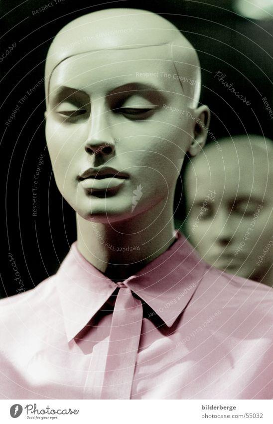 Face Pink Cool (slang) Threat Shirt Doll Hard Placed Mannequin Monochrome Shopping center Interior designer Window dresser
