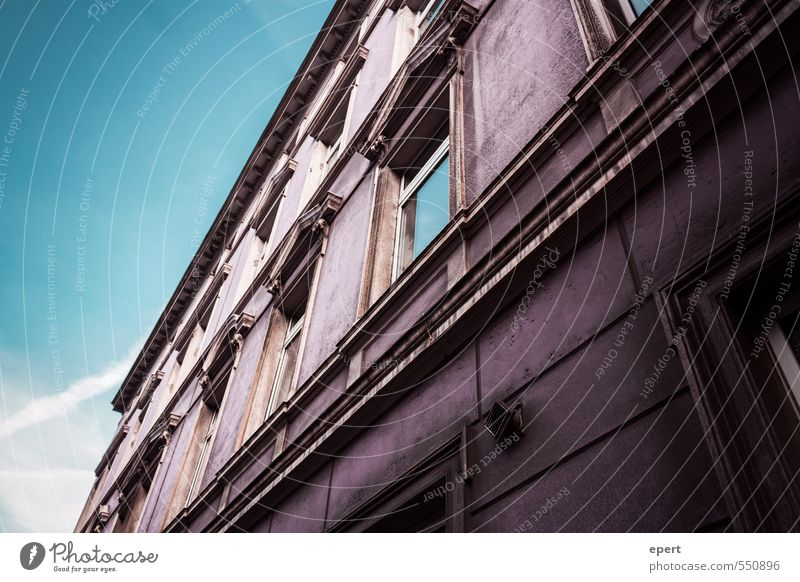 #996699 Architecture Old town House (Residential Structure) Building Wall (barrier) Wall (building) Facade Window Esthetic Dirty Sharp-edged Large Uniqueness