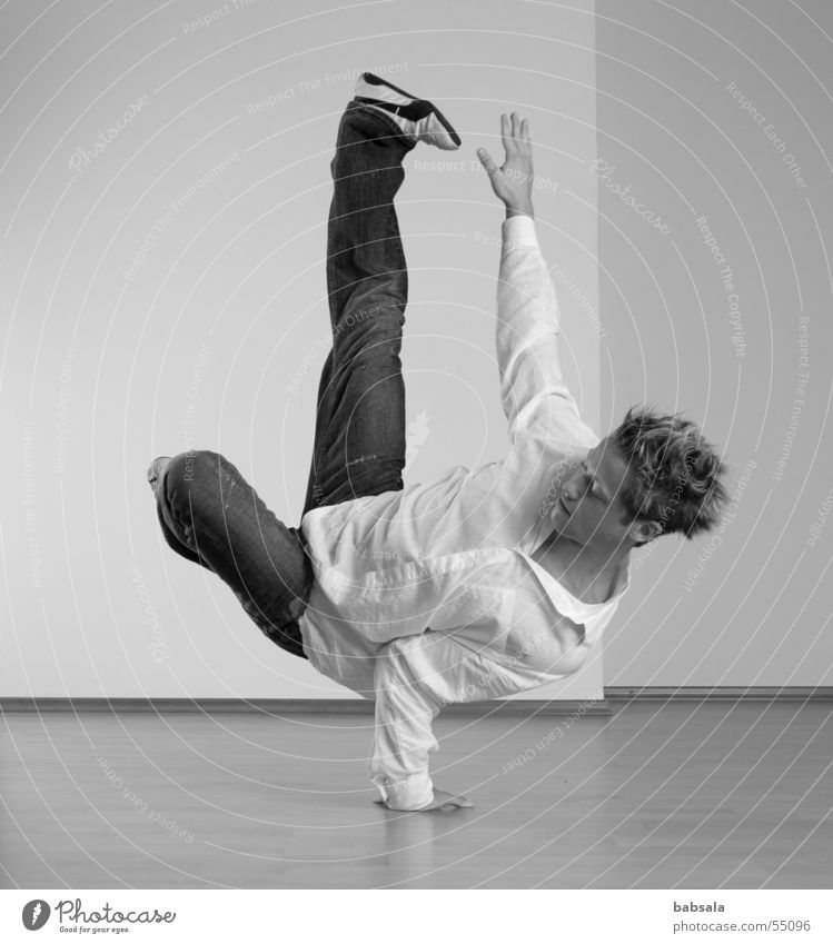 Man Sports Dancer Pain Effort Breakdance
